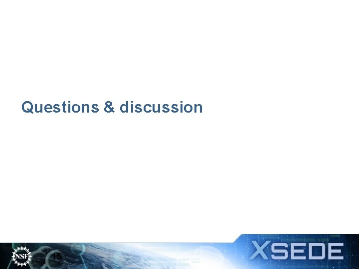 Questions & discussion 15
