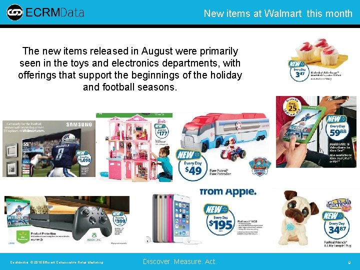 New items at Walmart this month The new items released in August were primarily
