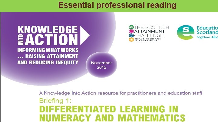 Essential professional reading Transforming lives through learning