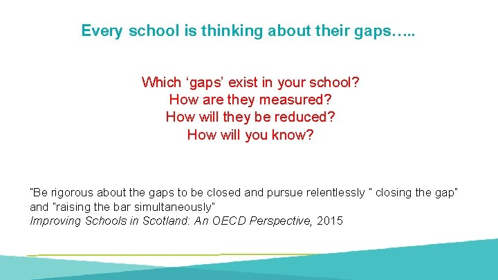 Every school is thinking about their gaps…. . Which 'gaps' exist in your school?