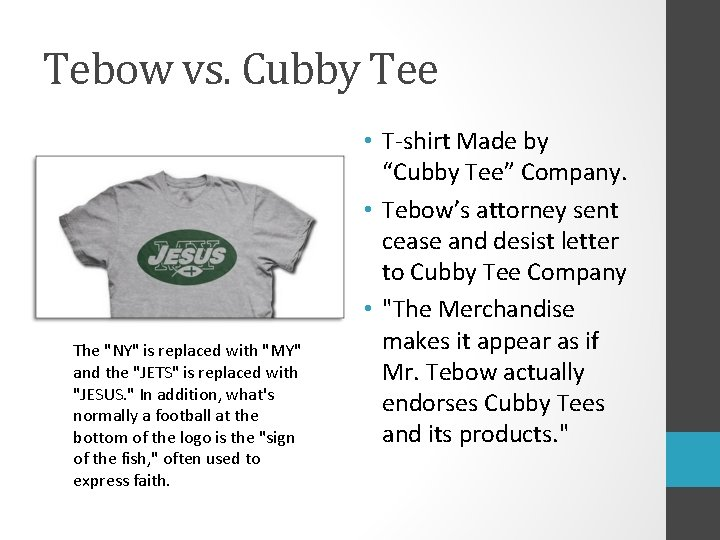 """Tebow vs. Cubby Tee The """"NY"""" is replaced with """"MY"""" and the """"JETS"""" is"""