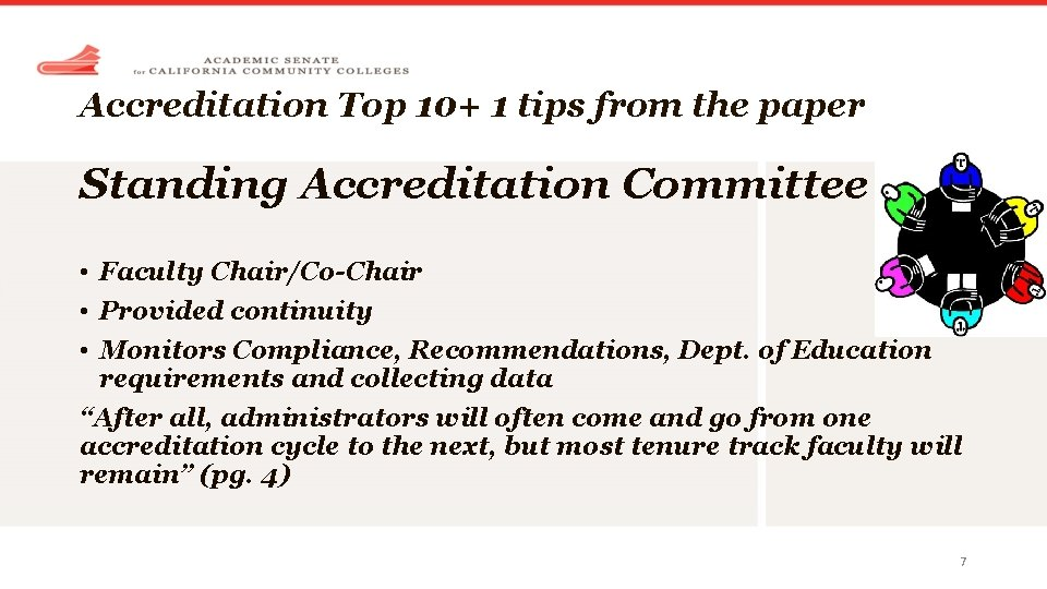 Accreditation Top 10+ 1 tips from the paper Standing Accreditation Committee • Faculty Chair/Co-Chair