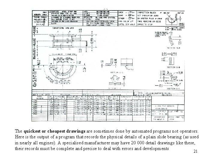 The quickest or cheapest drawings are sometimes done by automated programs not operators. Here