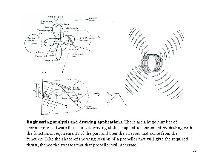 Engineering analysis and drawing applications. There a huge number of engineering software that assist