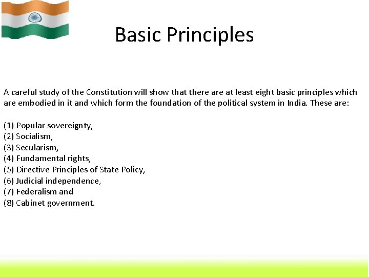 Basic Principles A careful study of the Constitution will show that there at least