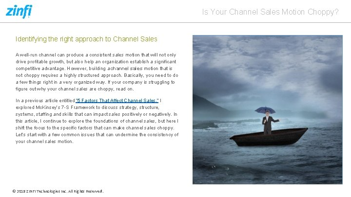 Is Your Channel Sales Motion Choppy? Identifying the right approach to Channel Sales A