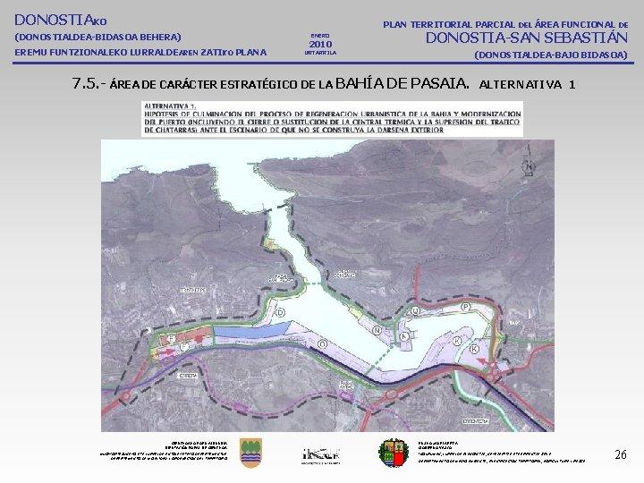 DONOSTIAKO PLAN TERRITORIAL PARCIAL DEL ÁREA FUNCIONAL DE (DONOSTIALDEA-BIDASOA BEHERA) EREMU FUNTZIONALEKO LURRALDEAREN ZATIKO