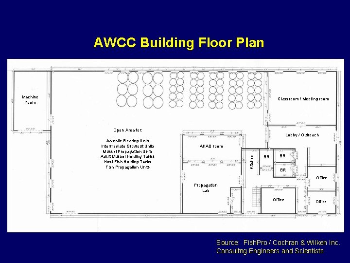 AWCC Building Floor Plan Machine Room Classroom / Meeting room Open Area for: Lobby