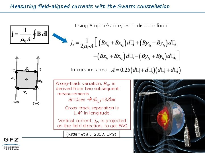 Measuring field-aligned currents with the Swarm constellation Using Ampère's integral in discrete form 2