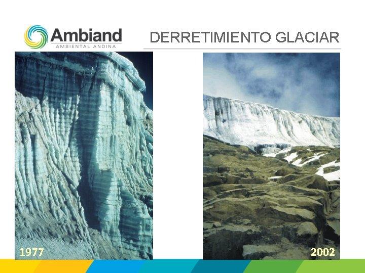 DERRETIMIENTO GLACIAR 1977 2002