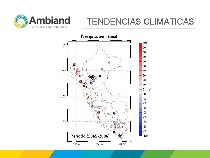 TENDENCIAS CLIMATICAS Periodo (1965 -2006)