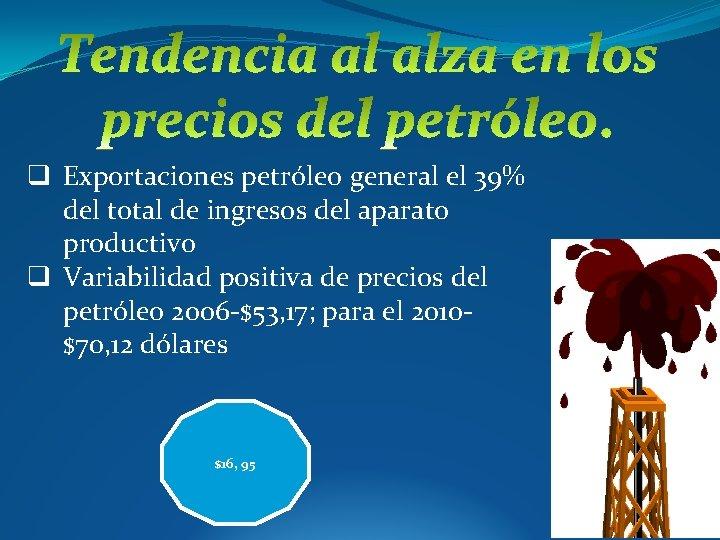 q Exportaciones petróleo general el 39% del total de ingresos del aparato productivo q