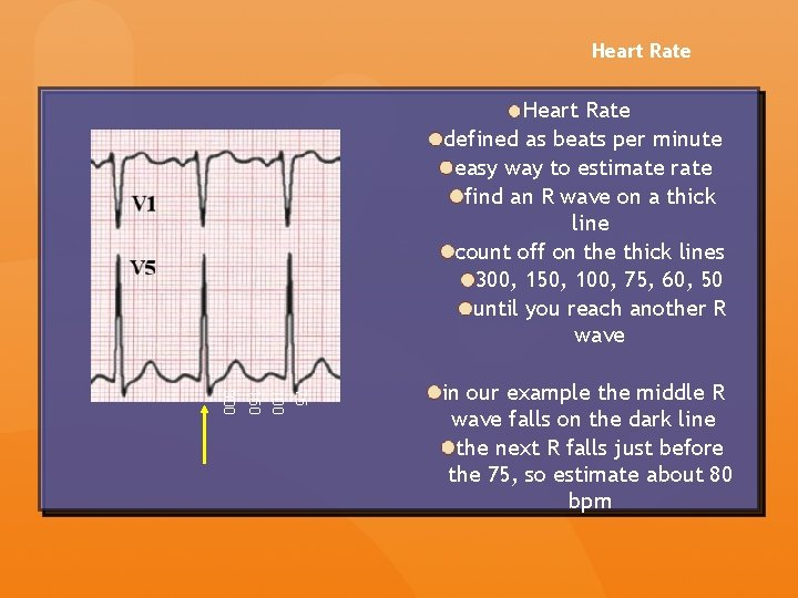 Heart Rate defined as beats per minute easy way to estimate rate find an