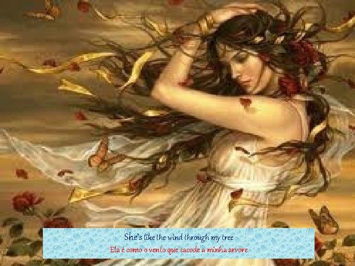 She's like the wind through my tree Ela é como o vento que sacode