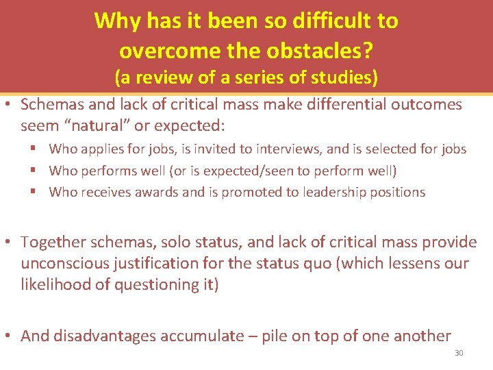 Why has it been so difficult to overcome the obstacles? (a review of a