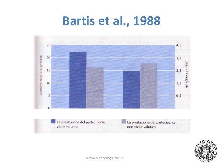 Bartis et al. , 1988 antonio. nocera@univr. it