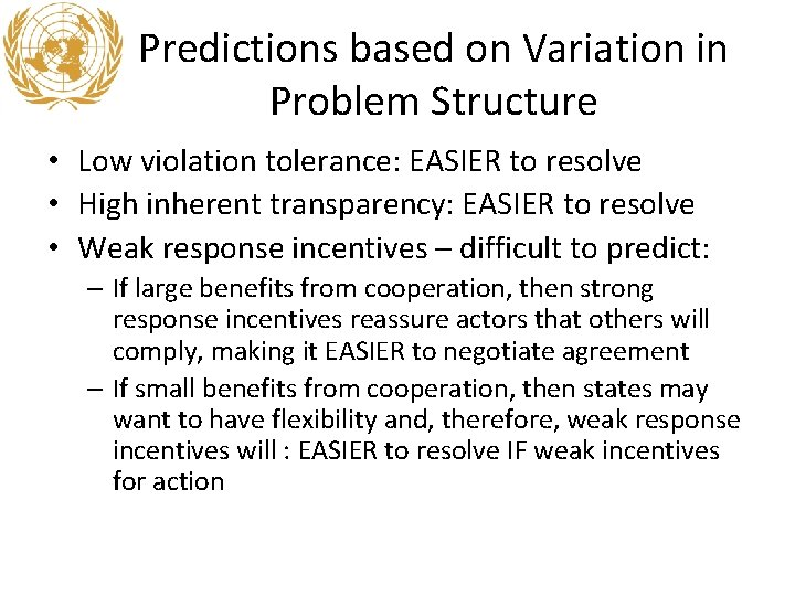 Predictions based on Variation in Problem Structure • Low violation tolerance: EASIER to resolve