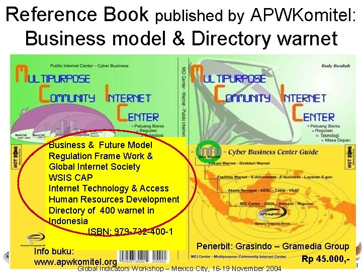 Reference Book published by APWKomitel: Business model & Directory warnet Business & Future Model