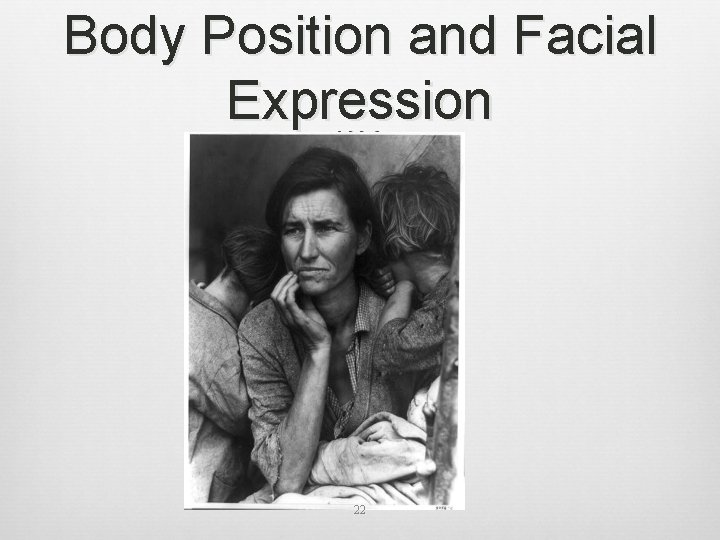 Body Position and Facial Expression 22