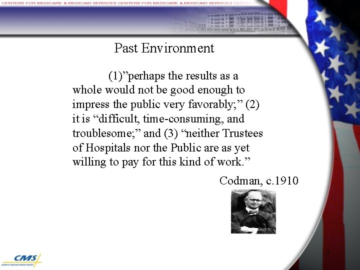 """Past Environment (1)""""perhaps the results as a whole would not be good enough to"""