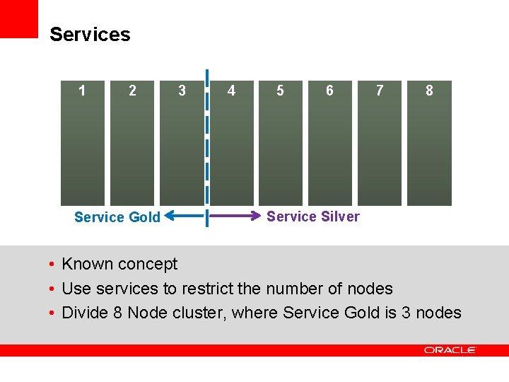Services 1 2 Service Gold 3 4 5 6 7 8 Service Silver •