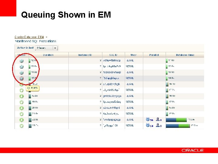 Queuing Shown in EM