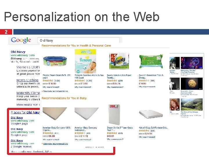Personalization on the Web 2
