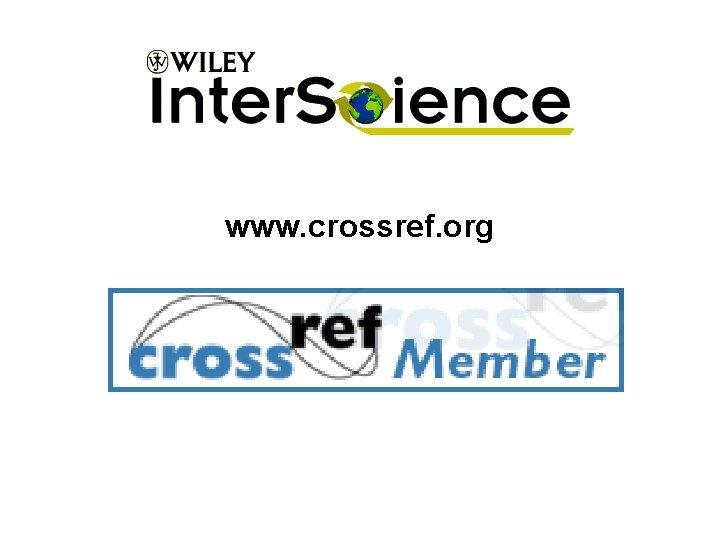 www. crossref. org