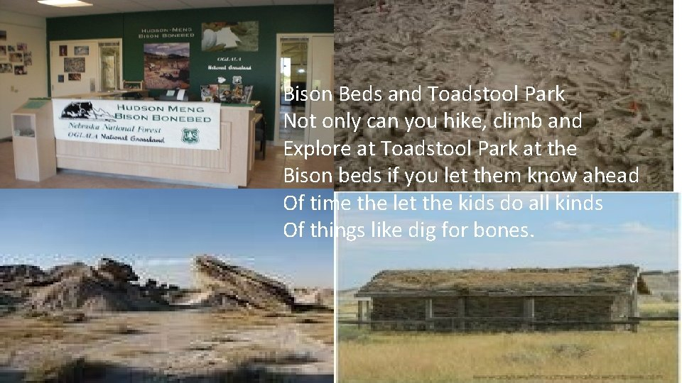 Bison Beds and Toadstool Park Not only can you hike, climb and Explore at