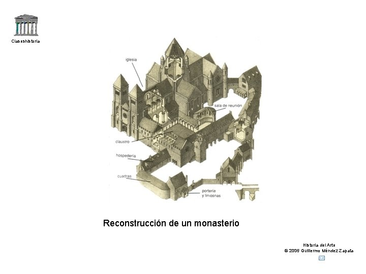Claseshistoria Reconstrucción de un monasterio Historia del Arte © 2006 Guillermo Méndez Zapata