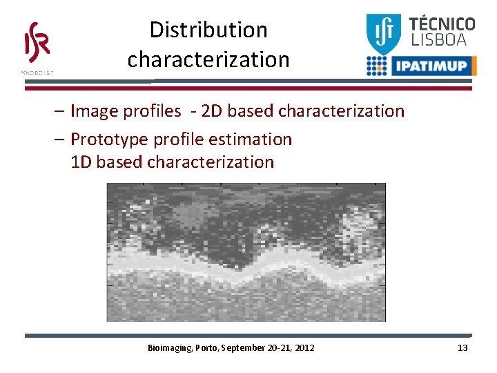 Distribution characterization – Image profiles - 2 D based characterization – Prototype profile estimation
