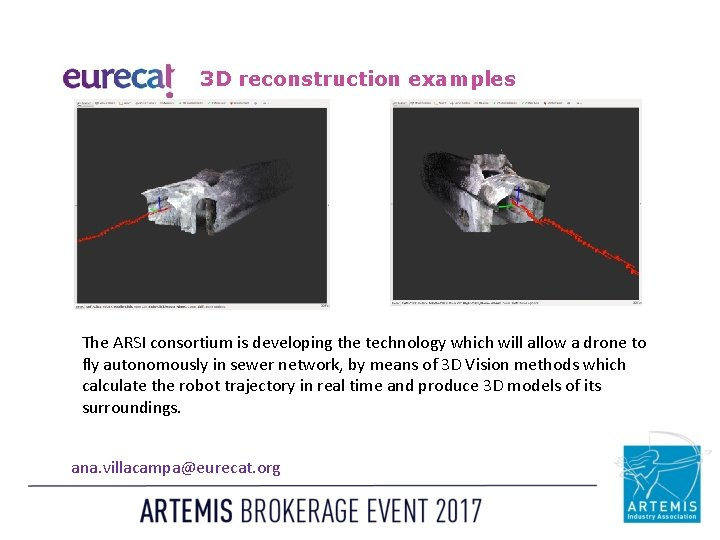 3 D reconstruction examples The ARSI consortium is developing the technology which will allow
