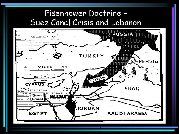 Eisenhower Doctrine – Suez Canal Crisis and Lebanon