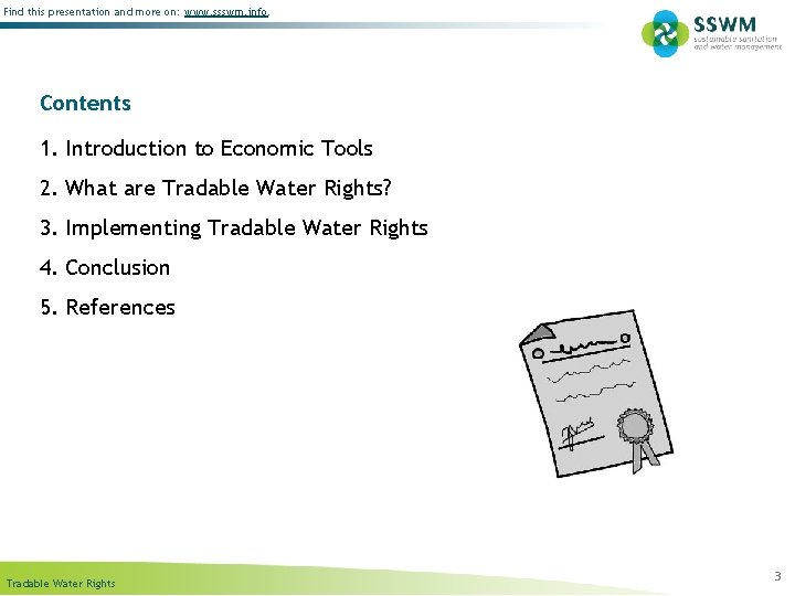 Find this presentation and more on: www. ssswm. info. Contents 1. Introduction to Economic