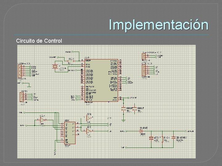 Implementación Circuito de Control