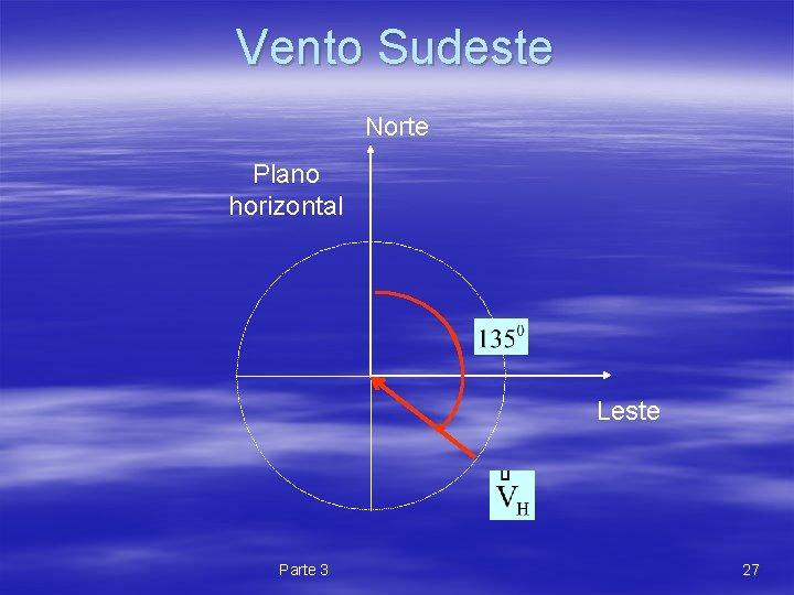 Vento Sudeste Norte Plano horizontal Leste Parte 3 27