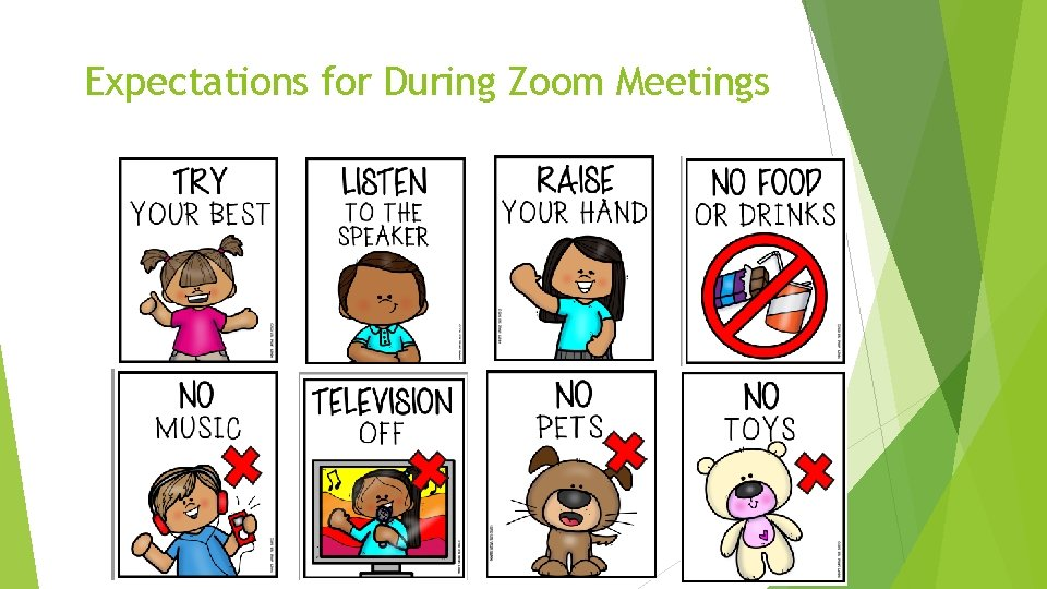 Expectations for During Zoom Meetings