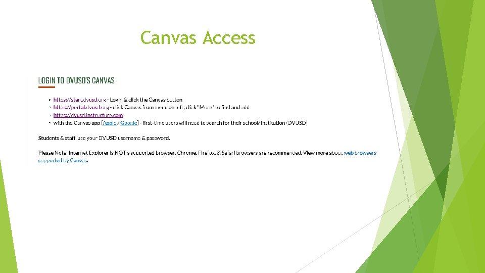Canvas Access