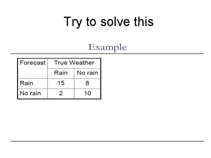 Try to solve this