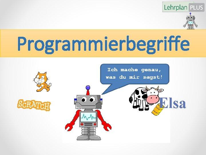 Programmierbegriffe Elsa