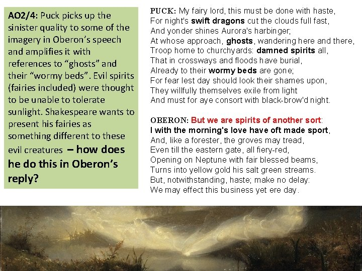 AO 2/4: Puck picks up the sinister quality to some of the imagery in
