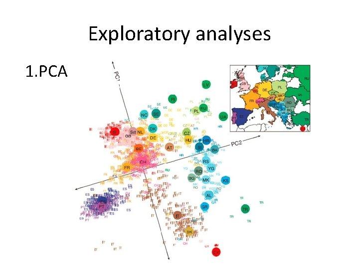 Exploratory analyses 1. PCA
