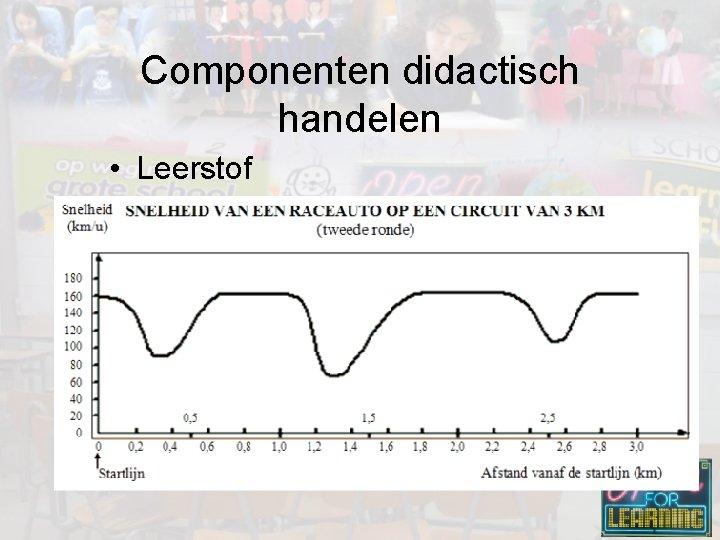 Componenten didactisch handelen • Leerstof