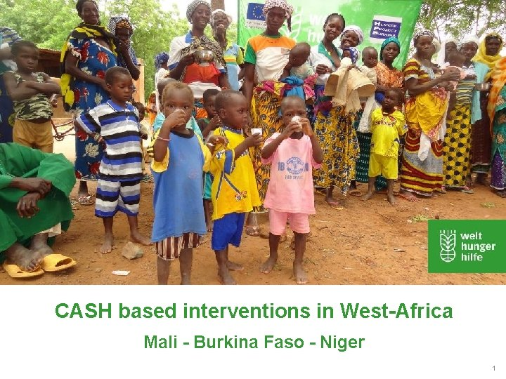 CASH based interventions in West-Africa Mali - Burkina Faso - Niger 1