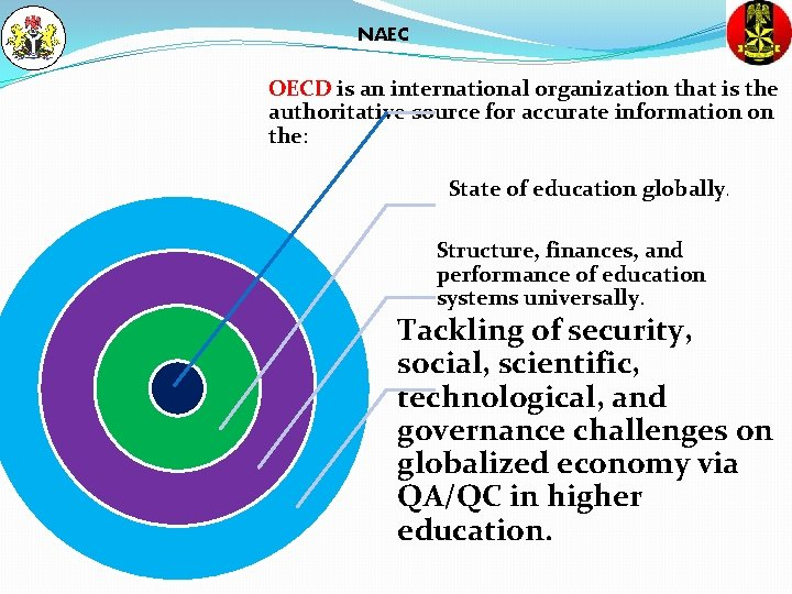 NAEC OECD is an international organization that is the authoritative source for accurate information
