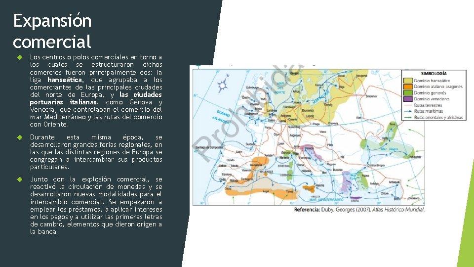 Expansión comercial Los centros o polos comerciales en torno a los cuales se estructuraron