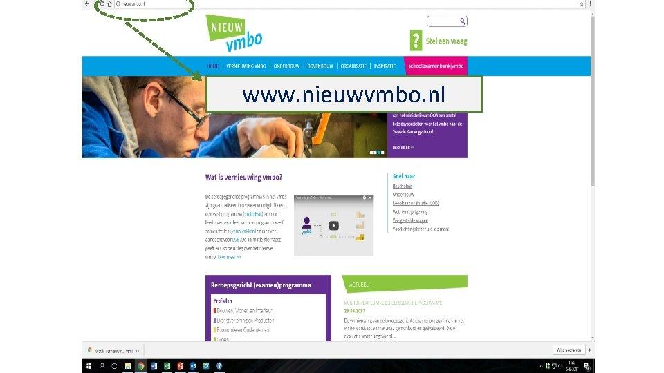 www. vernieuwingvmbo. n www. nieuwvmbo. nl l