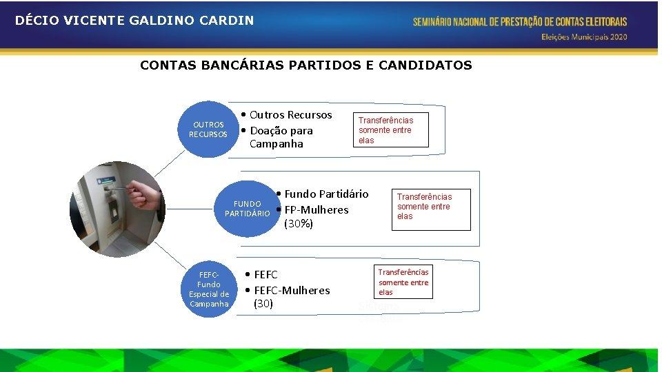 DÉCIO VICENTE GALDINO CARDIN CONTAS BANCÁRIAS PARTIDOS E CANDIDATOS OUTROS RECURSOS • Outros Recursos