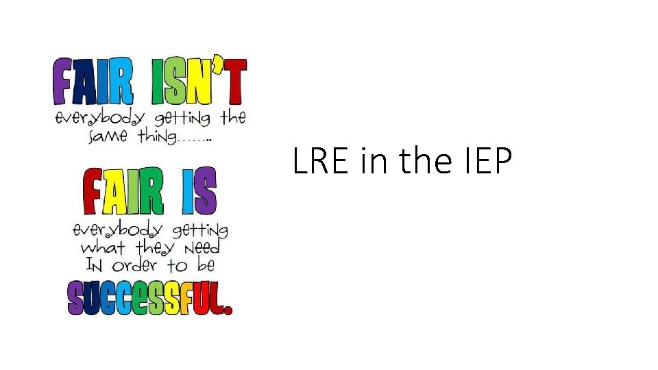 LRE in the IEP