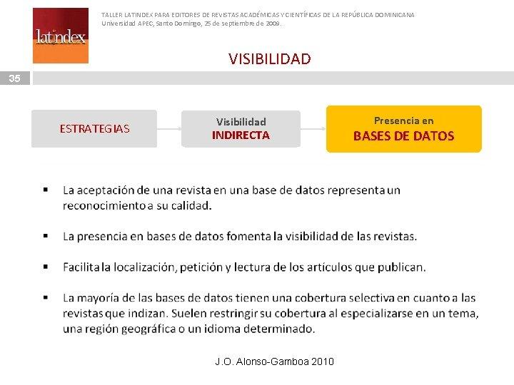 TALLER LATINDEX PARA EDITORES DE REVISTAS ACADÉMICAS Y CIENTÍFICAS DE LA REPÚBLICA DOMINICANA Universidad